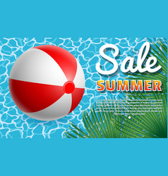 inflatable ball banner4 vector image