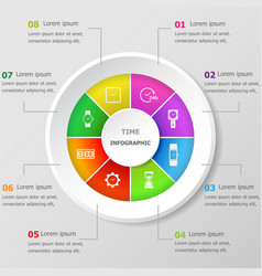 infographic design template with time icons vector image