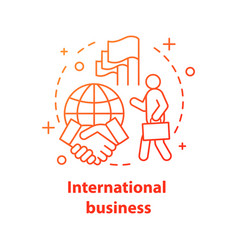 international business concept icon diplomacy vector image