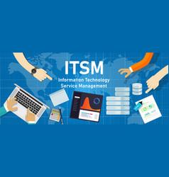 itsm information technology service management vector image