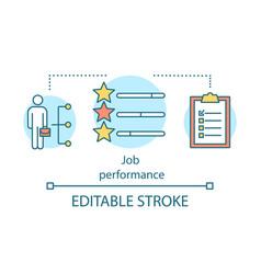 Job performance concept icon vector