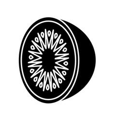 Kiwi fruit icon vector