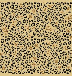Leopard pattern design eyes wild cats vector