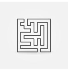 Line maze icon vector image