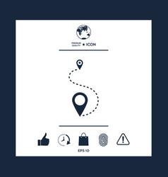 location icon vector image