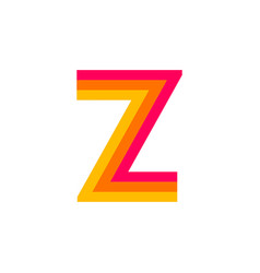logo letter z red glowing vector image