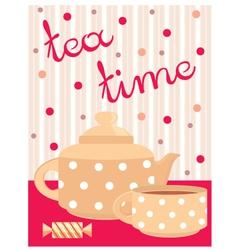 Menu tea service vector