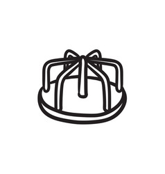 merry-go-round sketch icon vector image