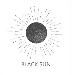 Monochrome hipster grunge vintage label vector