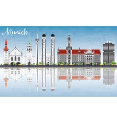 Munich Skyline with Gray Buildings vector