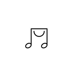 Music shop logo design template vector