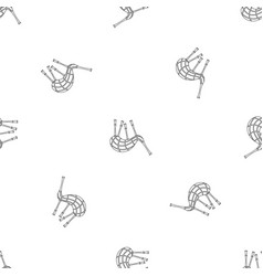 Musical bagpipes pattern seamless vector