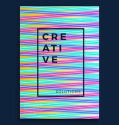 neon poster retro design 80s sci-fi pattern vector image