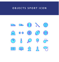 object sport filled outline icon set vector image