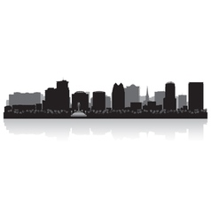 Orlando USA city skyline silhouette vector image