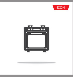 oven icon isolated on white background vector image