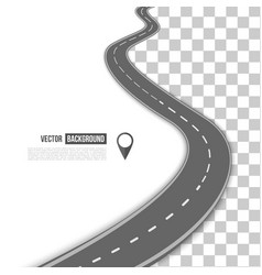 Path on the road vector