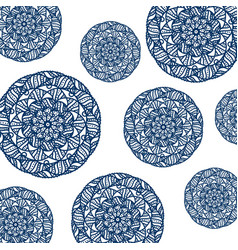 Pattern of circular mandala vector