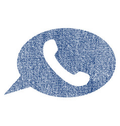 Phone message fabric textured icon vector