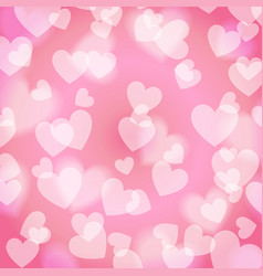 pink sweet bokeh heart pattern vector image