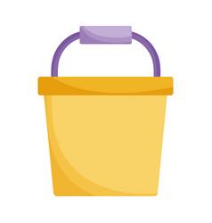 plastic bucket clean handle icon vector image