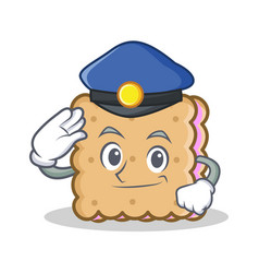Police biscuit character cartoon style vector