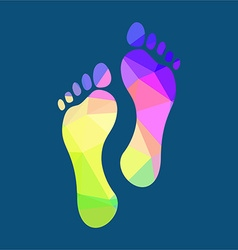 Polygonal Footprints vector