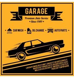 Poster auto service vector image