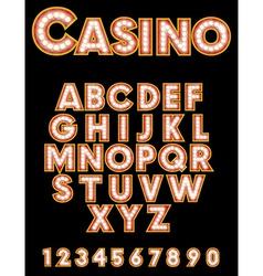 Retro Casino Font vector
