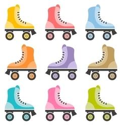 roller skate set vector image