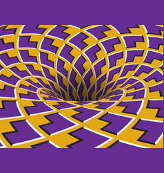 Rotating hole moving purple yellow arrows vector