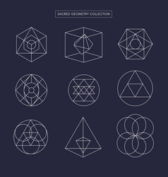 Sacred geometry non expanded outline vector