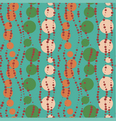 seamless turqueois retro beads pattern vector image
