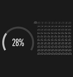 set of circular sector percentage diagrams vector image vector image