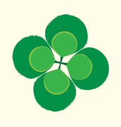 shamrock fourleaf symbol vector image