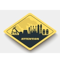 sign energy and attention vector image