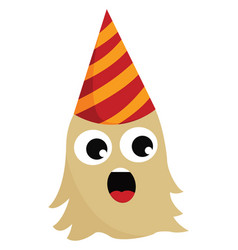 Singing birthday monster or color vector