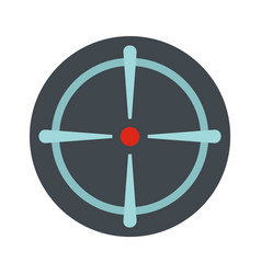 Sniper sight icon flat style vector