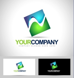 Square Logo Concept vector image