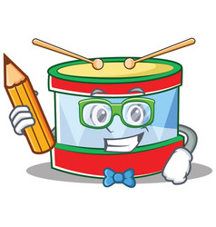 student toy drum character cartoon vector image
