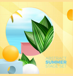 summer exotic room with paradise ocean view vector image