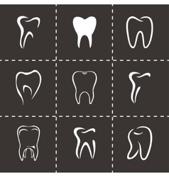 teeth icon set vector image