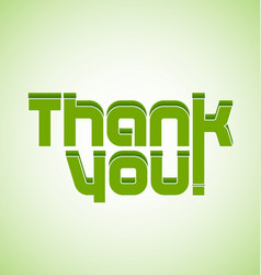 Thank you greeting card icon vector
