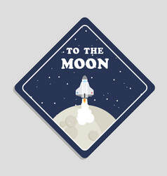to moon rocket ride to moon background vec vector image