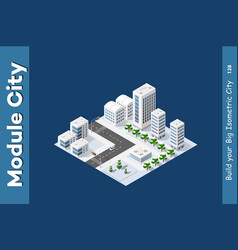 winter isometric city vector image