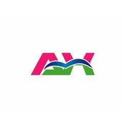 Ax initial company group logo vector