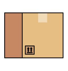 delivery carton box icon vector image