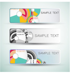 diagrams abstract banners vector image vector image