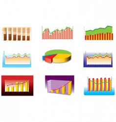 various graphs vector image