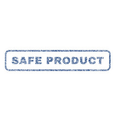 safe product textile stamp vector image vector image